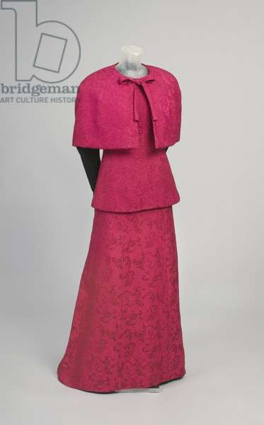 Evening Dress, Overblouse and Cape, 1968 (rayon damask)