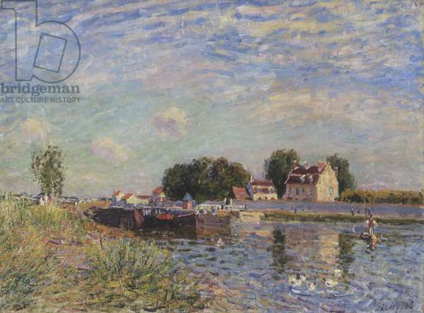 The Canal at Saint-Mammes, 1885 (oil on canvas)