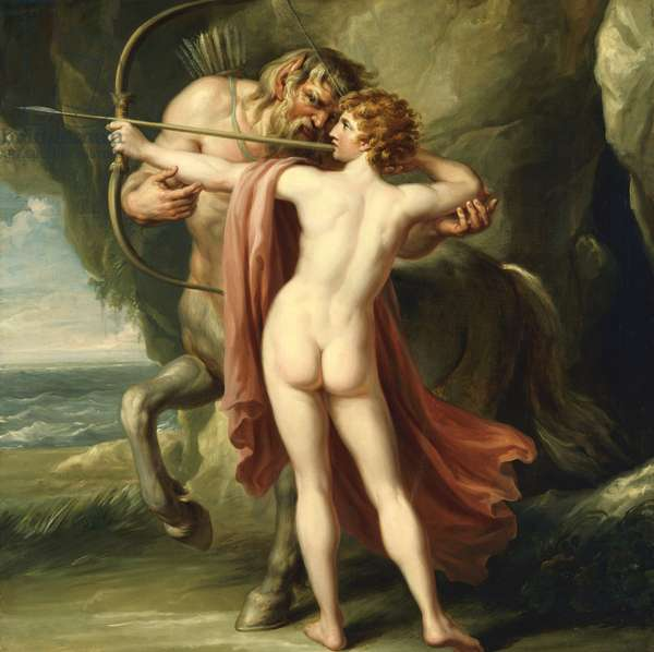 Chiron Instructing Achilles in the Bow, c.1776 (oil on canvas)