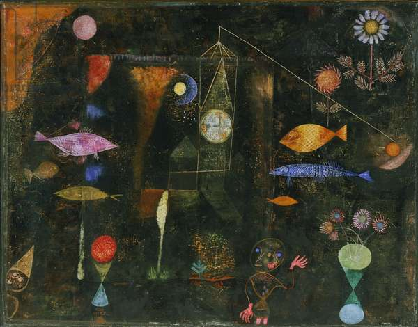 Fish Magic, 1925 (oil & w/c on canvas on panel)
