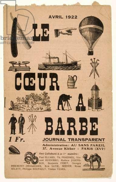 Le Coeur à Barbe, April 1922 (litho)