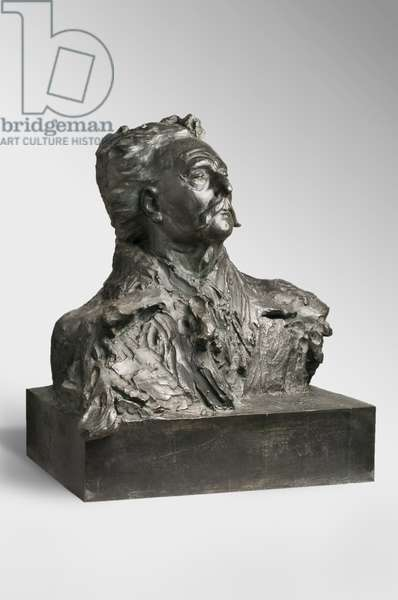 Jules Amédée Barbey d'Aurevilly, modeled 1909-12, cast by Alexis Rudier (1874-1952), 1925 (bronze)