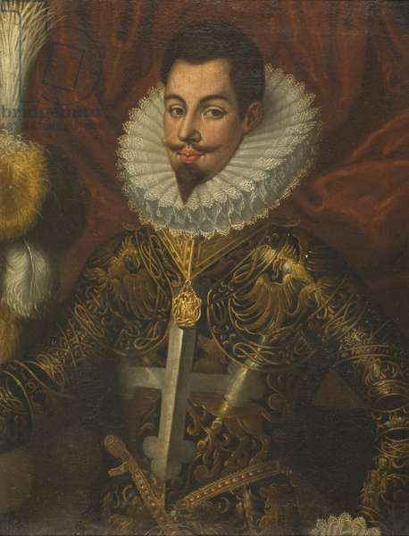 Portrait of a Man in Armour (oil on canvas)