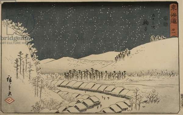 Mariko, No. 21 from the series 'Fifty-Three Stations of the Tokaido', Edo Period c.1848-50 (colour woodcut)