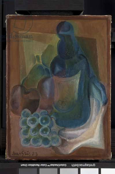 A Bottle and Fruit, 1923 (oil on canvas)