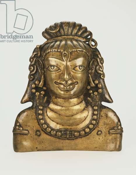 Mask of the God Shiva, c. 9th century (copper alloy)