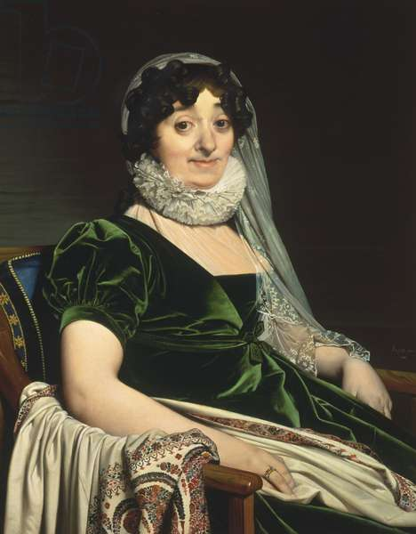Portrait of the Countess of Tournon, 1812 (oil on canvas)