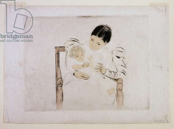 The Barefoot Child, c.1898 (colour drypoint & aquatint in ink)