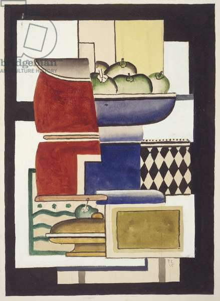 Dish of Fruit, 1925 (gouache, w/c & pencil on paper)