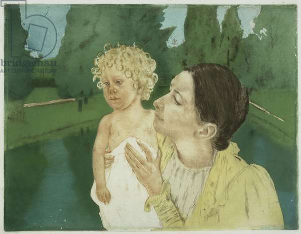 By the Pond, c.1896 (drypoint & colour aquatint)