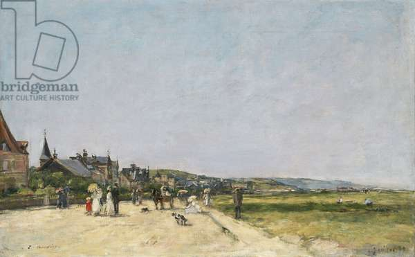 Deauville, the Terrace, 1882 (oil on canvas)