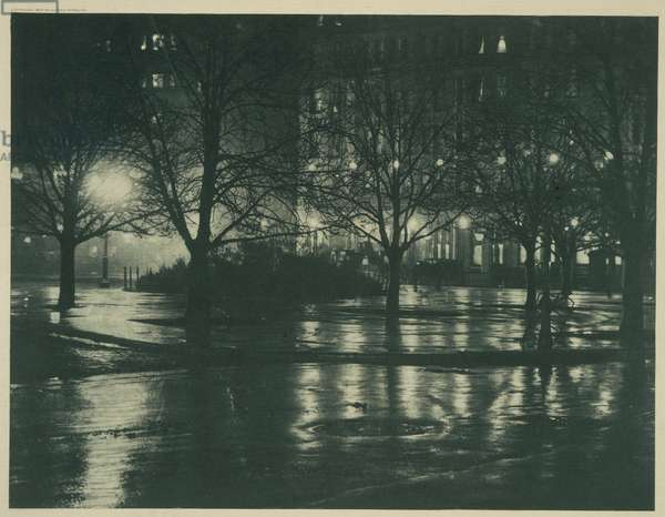 Reflections: Night - New York, 1897 (photogravure)