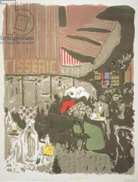 The Pastry Shop (Outdoor Café at Night) illustration from the album 'Paysages et Intérieurs' (Landscapes and Interiors) c.1898-99 (colour litho)