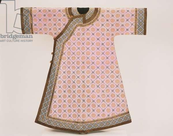 Manchu Woman's Informal Summer Robe, Qing Dynasty, c.1890-1903 (silk with metallic thread)