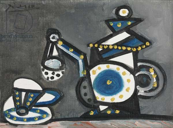 Still Life with a Teapot and a Cup, 1953 (oil on canvas)