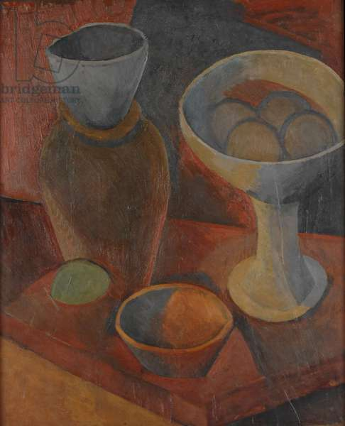 Still Life with Bowls and a Jug, 1908 (oil on canvas)