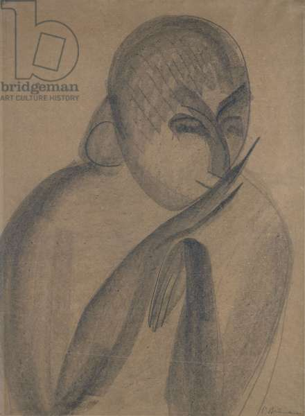 Mademoiselle Pogany, c.1912 (pencil & charcoal on paper)