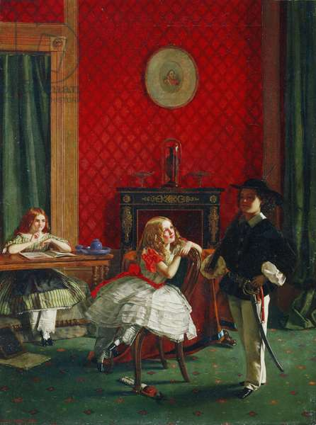 Just as the Twig Is Bent, 1861 (oil on canvas)