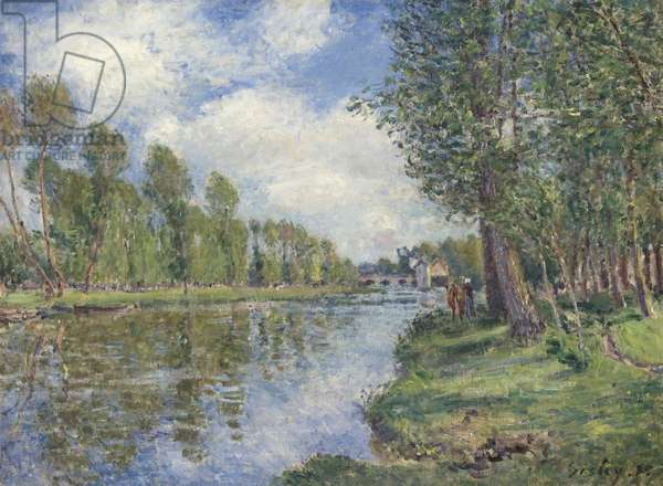 Banks of the Loing River, 1885 (oil on canvas)