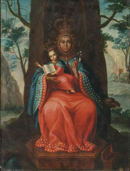 Virgin of Valvanera, 1762 (oil on copper)
