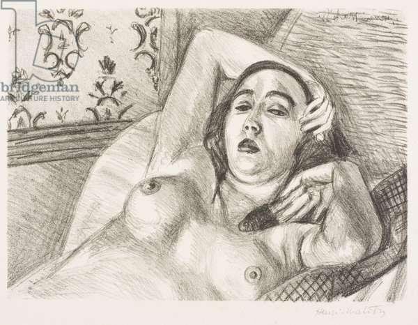 Le Repos du Modèle, 1922 (litho)