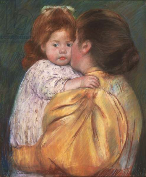 Mother and Child (Maternal Kiss) 1897 (pastel on paper)