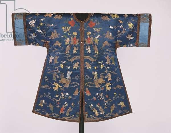 Woman's Robe (silk satin with metallic warps)