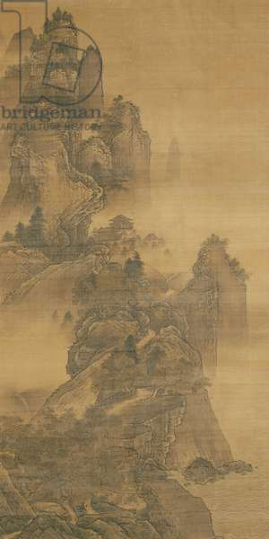 Summer Landscape, from 'Landscapes of the Four Seasons', Edo Period (ink & colours on silk)