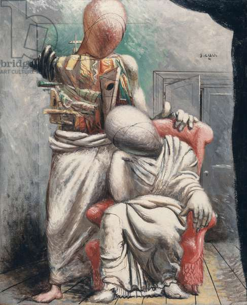 The Poet and his Muse, c.1925 (oil & tempera on canvas)