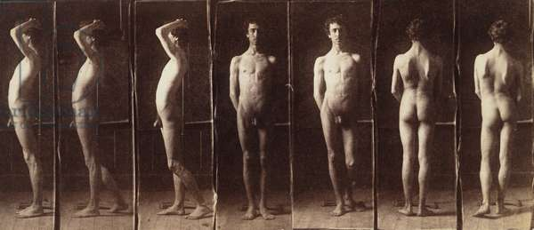 Naked Series: John Laurie Wallace, c.1883 (albumen silver print mounted on card)