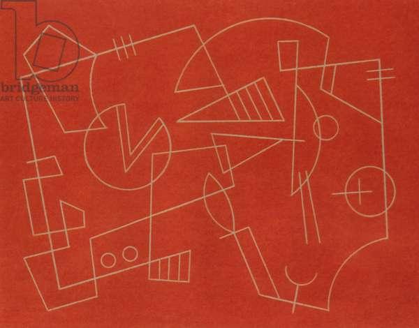 WALKING LINE.1997, (pastel on paper)