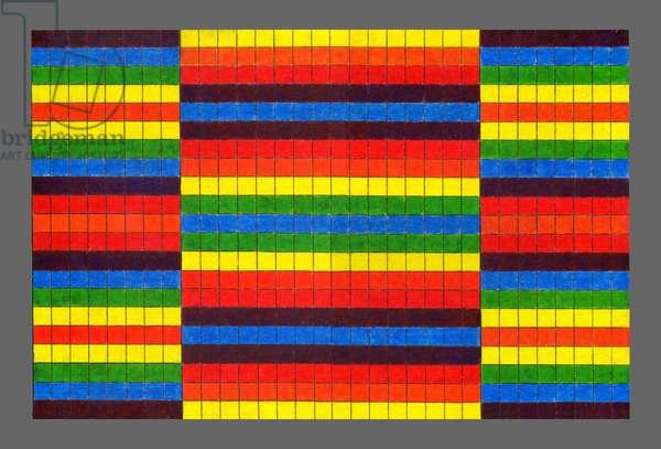 Striped Triptych, 2009 (acrylic on board)