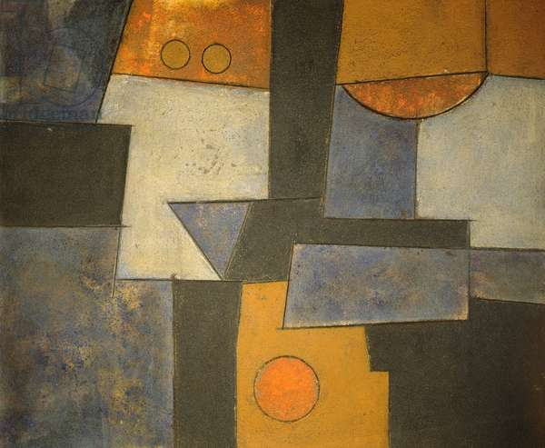 Nocturne, 1998 (acrylic and collage on wood)