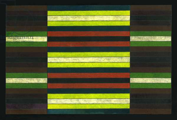STRIPED TRIPTYCH No.6, 2003, (PAINTING)