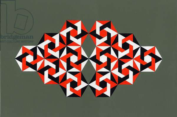 Hexagrams, 2009 (acrylic on canvas)