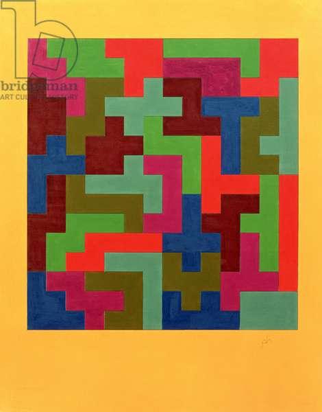 Puzzle II, 1988 (tempera on paper)
