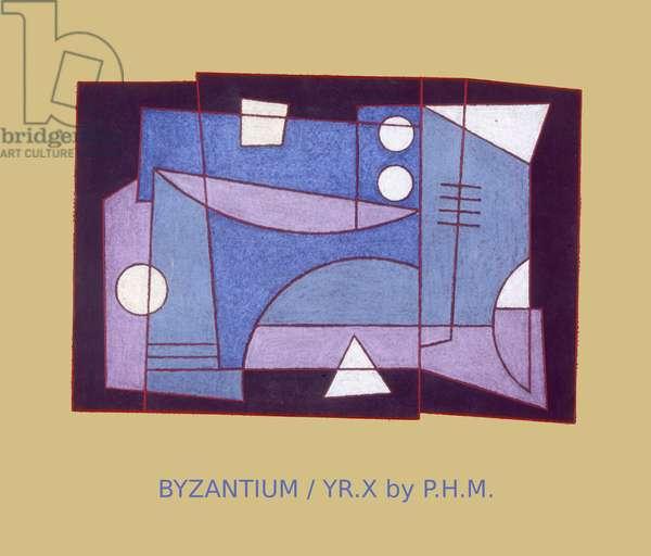 BYZANTIUM. YEAR X, (pastel on paper)