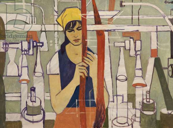 Textile Worker (oil on canvas)