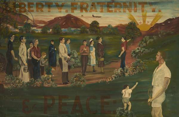 Liberty Fraternity & Peace, c.1960 (oil on board)