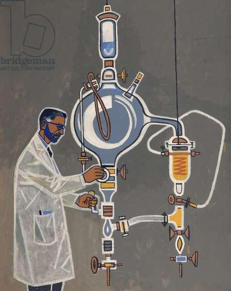 Bearded Scientist (oil on board)