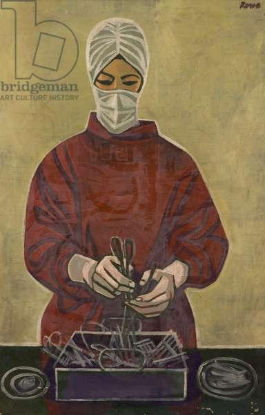 Operating Theatre Nurse (oil on canvas)