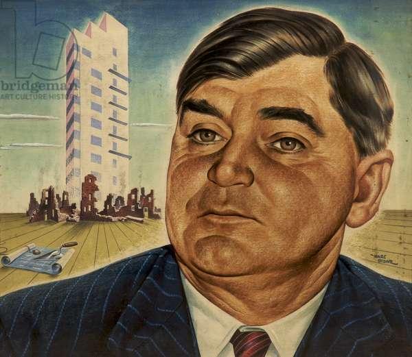 Aneurin Bevan, 1945 (acrylic on card)