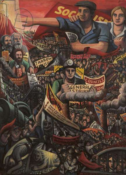The History of Labour, 1975 (oil on canvas)