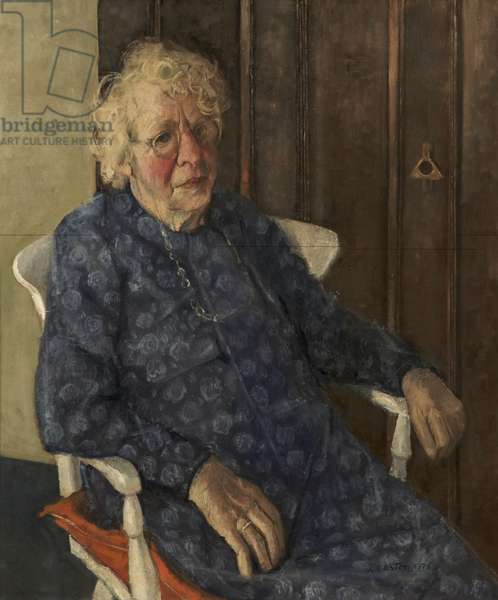 Mrs Florence Willard, Founder Member of TULC and National Museum of Labour History (now People's History Museum), 1975 (oil on canvas)