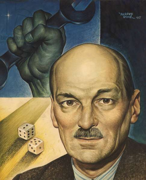 Clement Attlee, 1945 (acrylic on card)