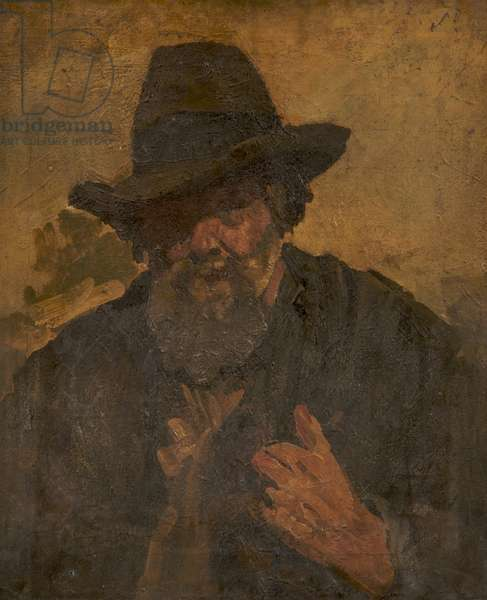 Hatted and Bearded Man, c.1890s (oil on canvas)