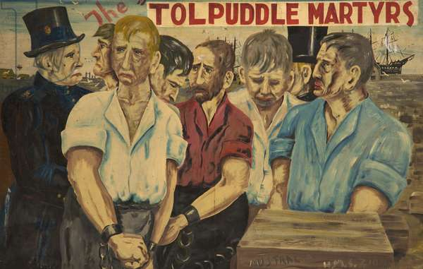 The Tolpuddle Martyrs, c.1960 (oil on board)