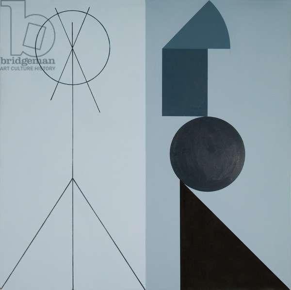 Studio, 1978 (acrylic (aquatec and Cryla) on linen)