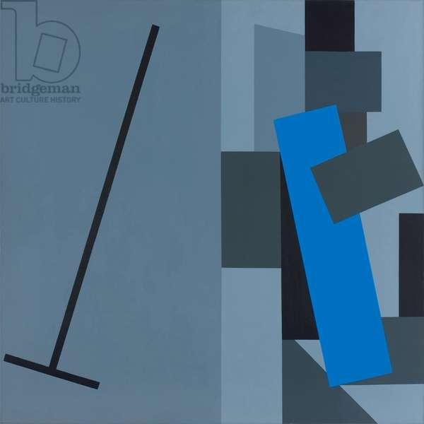 Metronome, 1979 (acrylic (aquatec) on linen)