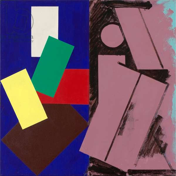 Primary Structures, 1991 (acrylic on linen)